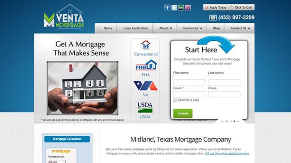 Venta Mortgage Web Design Infule